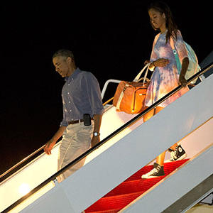 Raw: Obama Returns From Vacation