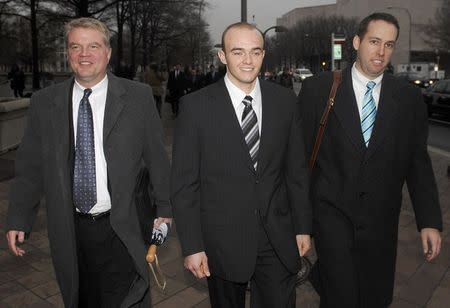 File photo of Blackwater Worldwide guard Slatten leaving federal courthouse after being arraigned in Washington