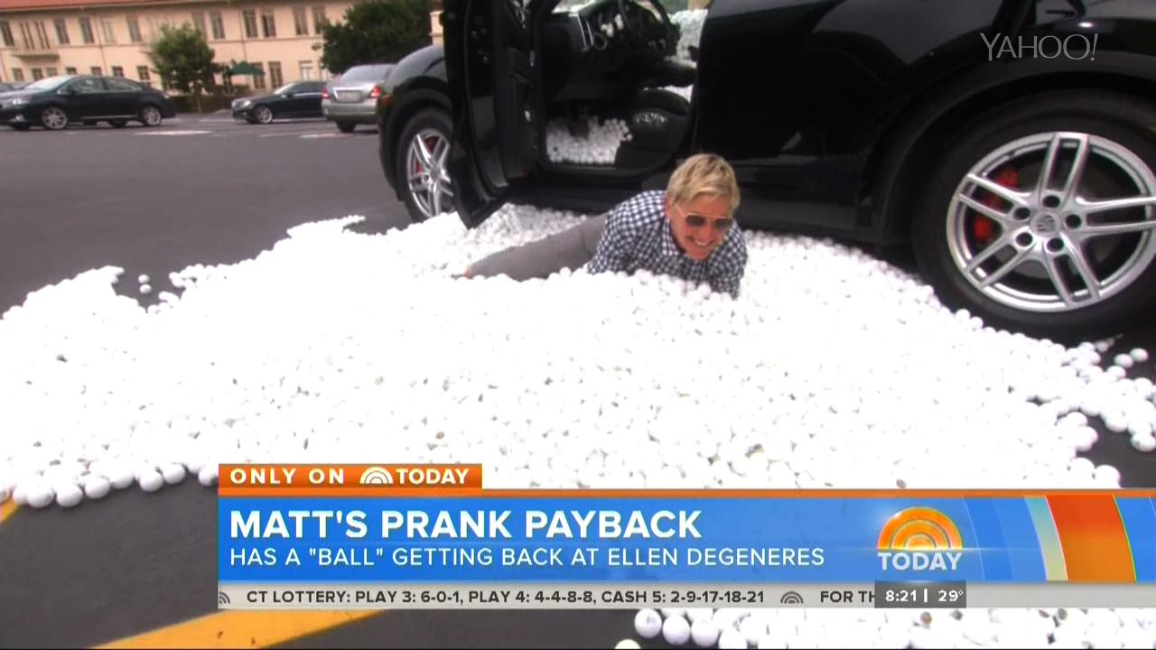 Matt Lauer Strikes Back Against Ellen in Prank War