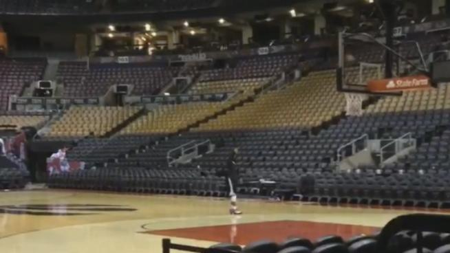 WATCH: Kyle Lowry Stuck Around After the Raptors' Game 1 Loss to Work on His Shot