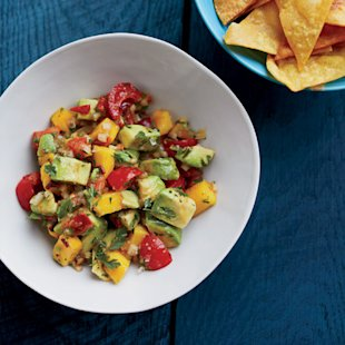 Chunky Avocado-and-Mango Guacamole