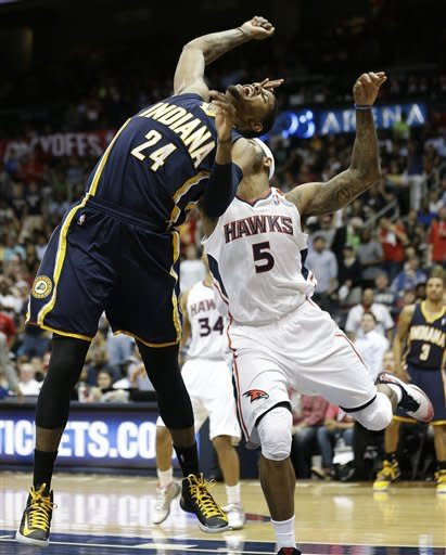 Horford leads Hawks to 90-69 rout of Pacers