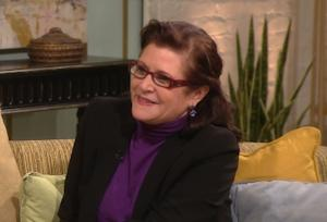 Carrie Fisher stops by Access Hollywood Live on November 3, 2011 -- Access Hollywood