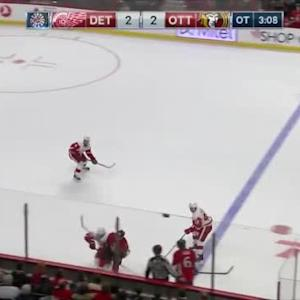 Tomas Jurco Hit on Mike Hoffman (01:55/OT)