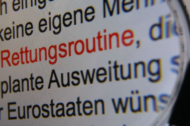 &amp;#34;Rettungsroutine&amp;#34; ist das Wort des Jahres (Bild: dpa)
