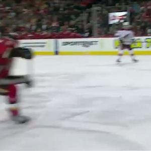 Hudler sets up Backlund for pretty goal