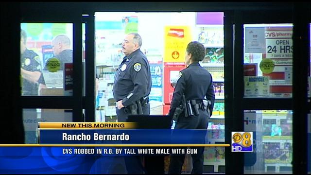Rancho Bernardo CVS pharmacy robbed at gunpoint