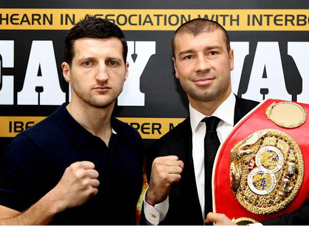 Carl Froch (L) And Lucian Bute Getty Images