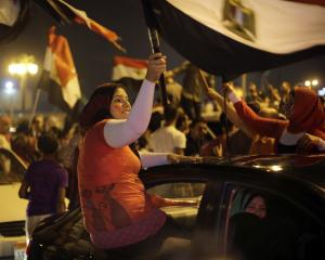 Supporters of presidential hopeful Abdel-Fattah el-Sissi, …
