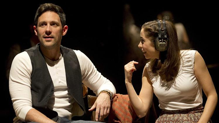 "In this theater image released by Boneau/Bryan-Brown, Steve Kazee, left, and Cristin Milioti are shown in a scene from the musical ""Once,"" in New York.  Milioti guest-starred on the season eight finale episode of ""How I met Your Mother,"" on CBS.  (AP Photo/Boneau/Bryan-Brown, Joan Marcus)"
