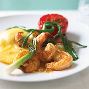The classic pairing of shrimp and grits