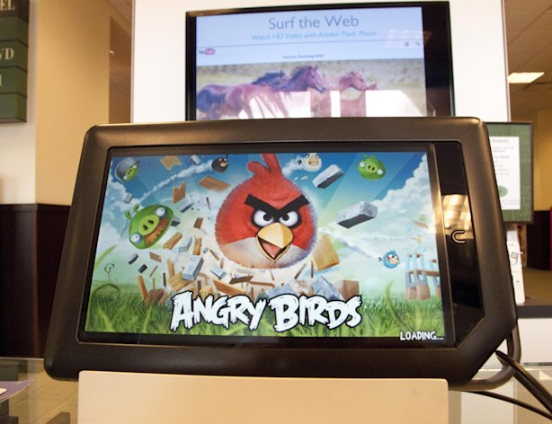 Fake apps - based on real games such as Angry Birds (pictured) - can add thousands to parents' phone bills. (Image: Rex)