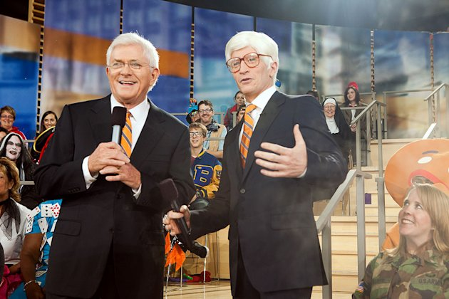 Anderson Cooper dresses up as Phil Donahue with Surprise Guest Phil Donahue for the Halloween episode of &quot;Anderson.&quot; 