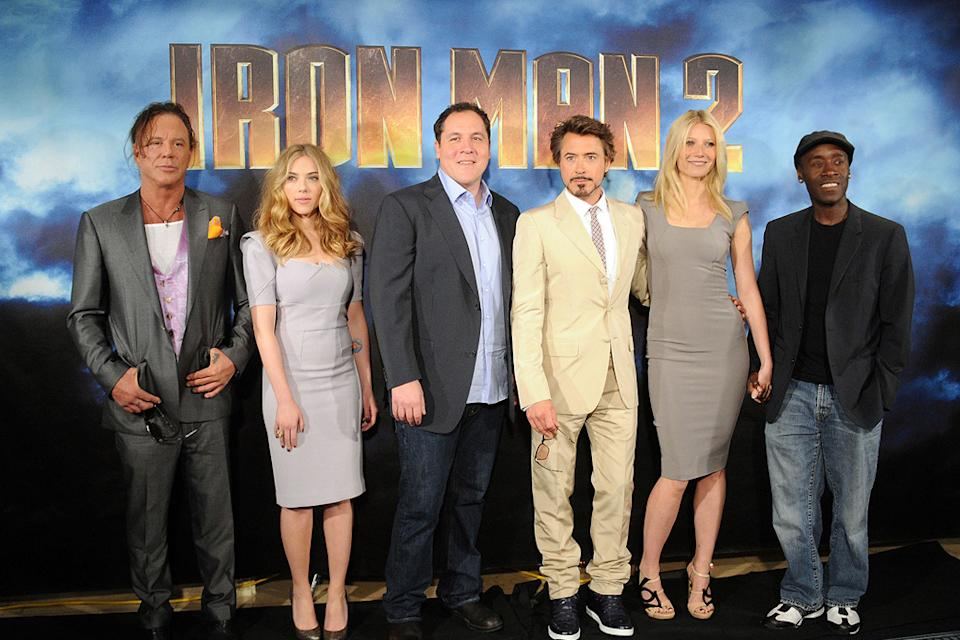 Iron Man 2 Photocall 2010 Mickey Rourke Scarlett Johansson Jon Favreau Robert Downey Jr. Gwyneth Paltrow Don Cheadle