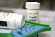 Bottles of antiretroviral drug Truvada, a breakthrough HIV prevention pill approved by US regulators this month, are displayed at a pharmacy in California. Truvada is likely to prove too expensive for most Thais at risk of infection when it eventually hits the market