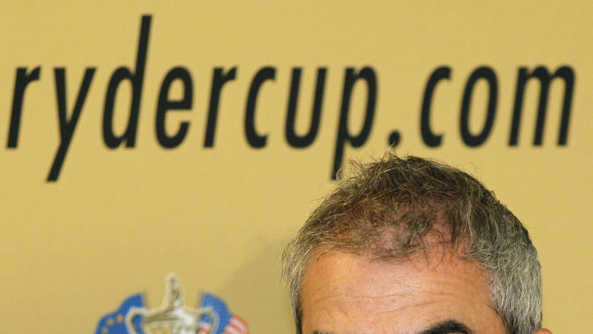 FILE - This July 20, 2010 file photo shows Irish golfer Paul McGinley during a press conference at Wentworth Golf club in Virginia Water, England. McGinley appears to be the front-runner to become Europe's Ryder Cup captain for 2014 after Darren Clarke raised doubts about taking on the responsibility.  (AP Photo/Kirsty Wigglesworth, File)