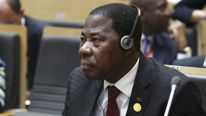 Benin's President Boni attends the opening ceremony of the Ordinary session of the Assembly of Heads of State and Government of the AU at the African Union headquarters in Ethiopia's capital Addis Ababa