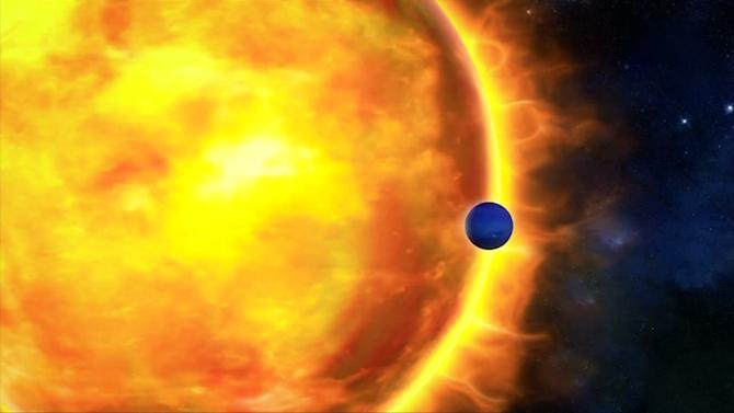 Neptune-sized exoplanet may have blue skies