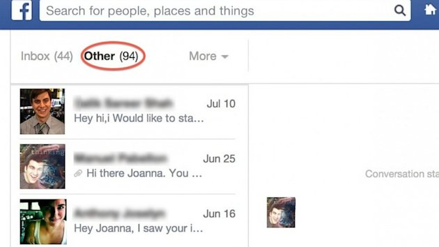 You've Got Hidden Facebook Messages: Check the Other Folder in Your Inbox (ABC News)