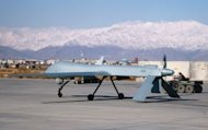 A US Predator drone sets off from its hangar at Bagram air base in Afghanistan. Pakistan's spymaster will next week visit the United States to resume talks on intelligence cooperation and drone strikes, the thorniest aspect of Pakistani-US relations