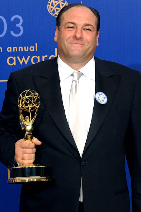 "James Gandolfini, winner of Outstanding Lead Actor in a  Drama Series for ""Sopranos"" at The 55th Annual Primetime Emmy Awards"