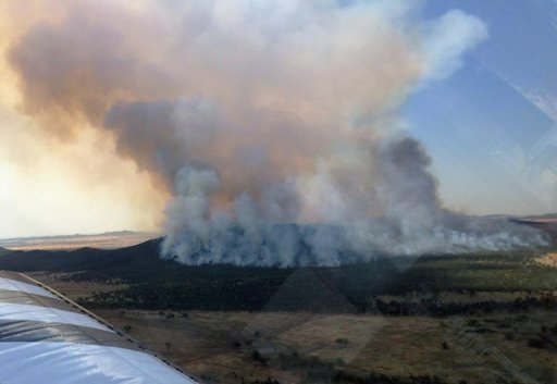 <p>A bushfire burns 8 kilometers from Naradhan in New South Wales, Australia on January 8, 2013, in this photo provided by the New South Wales Rural Fire Service. A drop in temperatures helped firefighters battling blazes across Australia Wednesday but up to 30 wildfires were still raging out of control, destroying a handful of homes and forcing people to flee.</p>