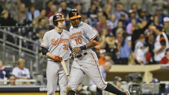 Jones' 4 hits vs hometown Padres give O's 4-1 win
