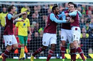 West Ham 2-1 Norwich City: Noble, O'Brien secure Hammers' first win in five
