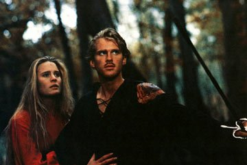 Robin Wright Penn and Cary Elwes in MGM's The Princess Bride