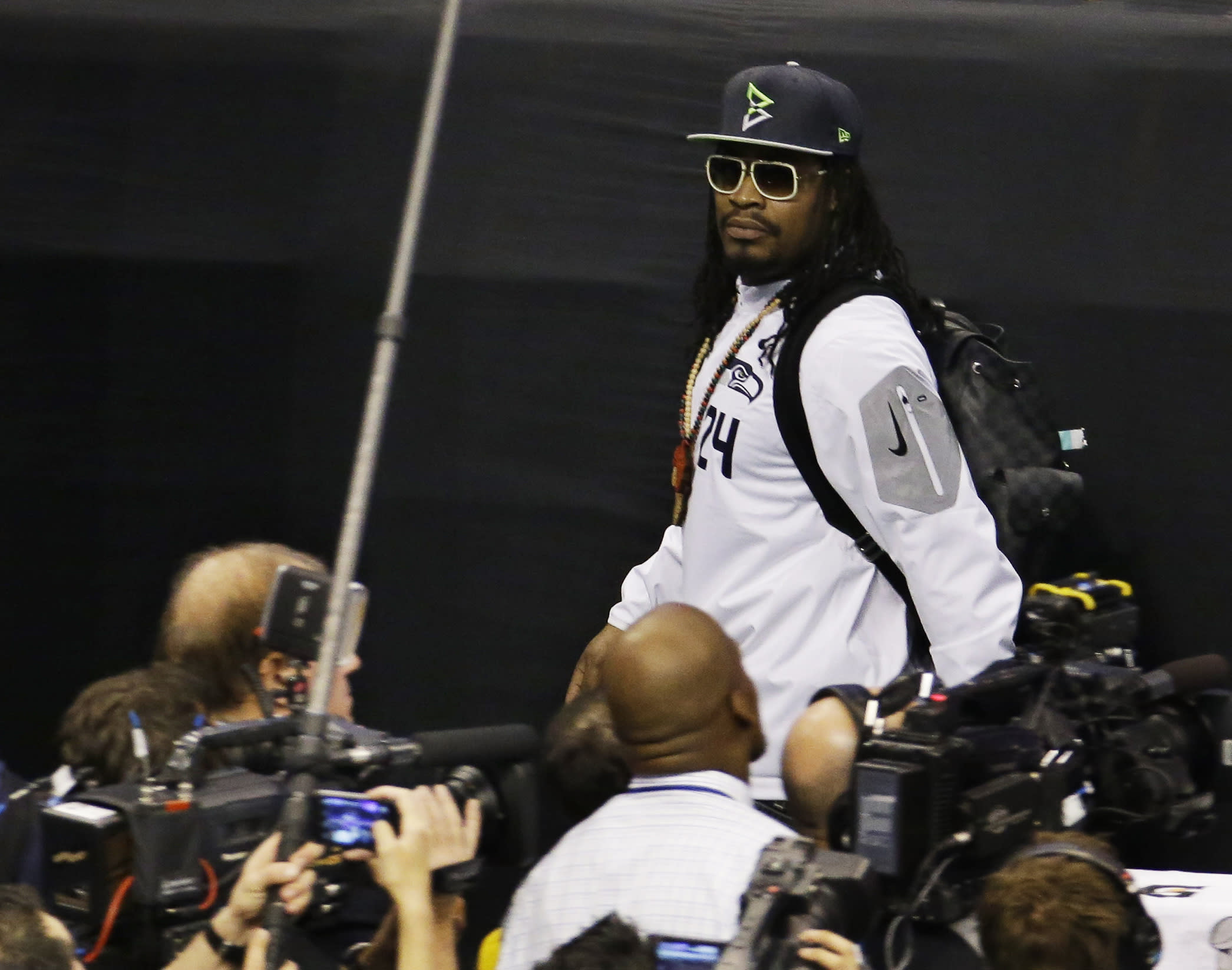 Lynch at Media Day: 'I'm here so I don't get fined'