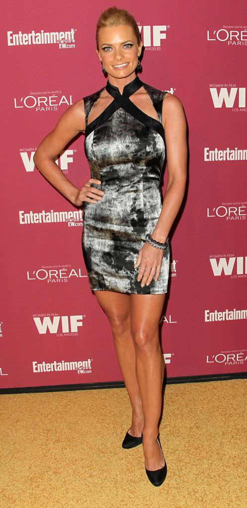Jaime Pressly attends the 2011 Entertainment Weekly And Women In Film Pre-Emmy Party at BOA Steakhouse on September 16, 2011 in West Hollywood, California.