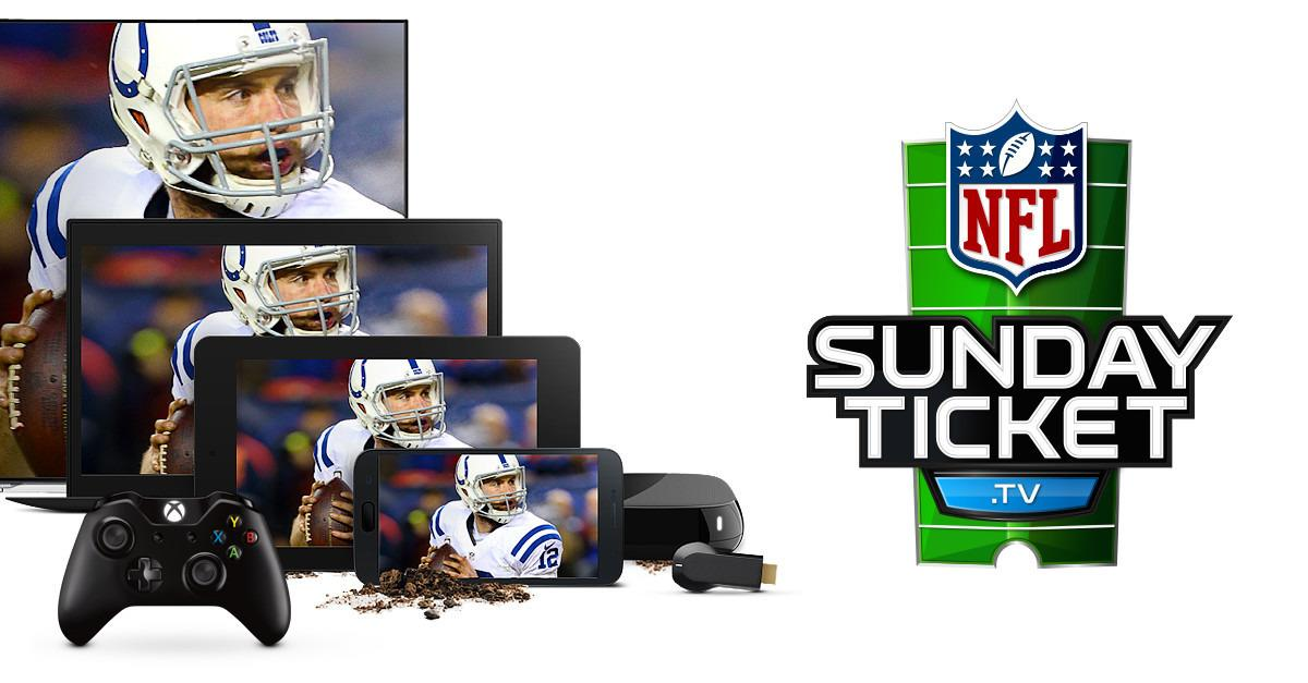 Can't get DIRECTV. Can get NFL SUNDAY TICKET.