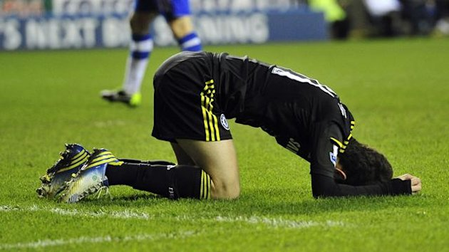 Chelsea&#39;s Oscar shows his disappointment against Reading (AFP)