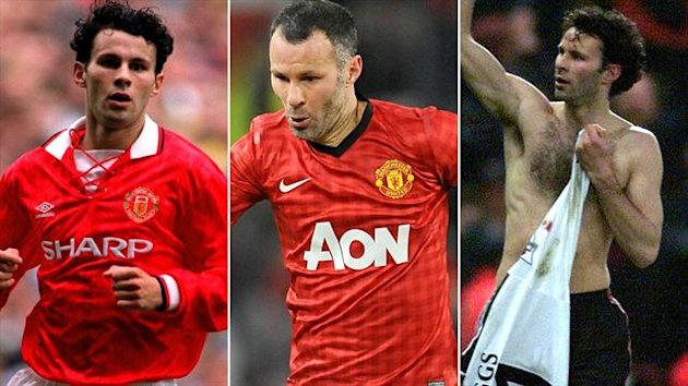 Ryan Giggs 1993, 2012 and 1999