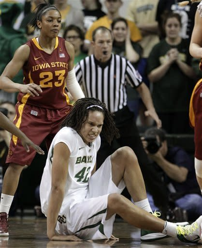 Griner 41 for No. 1 Baylor, 77-53 win over Iowa St