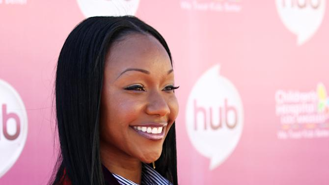 "Carmelita Jeter attends The Hub TV Network's ""My Little Pony Friendship is Magic"" Coronation Concert at the Brentwood Theatre on Saturday, Feb. 9, 2013, in Los Angeles in support of Children's Hospital LA. (Photo by Matt Sayles/Invision for The Hub/AP Images)"
