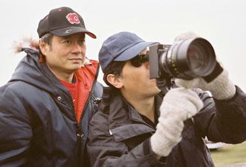 Director Ang Lee on the set of Focus Features' Brokeback Mountain