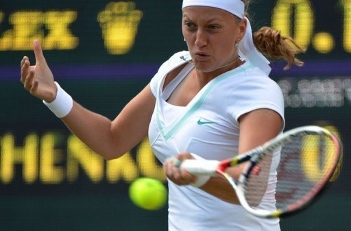 Petra Kvitova has yet to drop a set in defence of the title