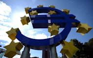 A giant Euro logo stands in front of the headquarters of the European Central Bank (ECB) in Frankfurt am Main, western Germany. The European Central Bank unveiled Thursday its latest hotly awaited scheme to douse the crisis fires burning across the eurozone that threaten to engulf the global economy