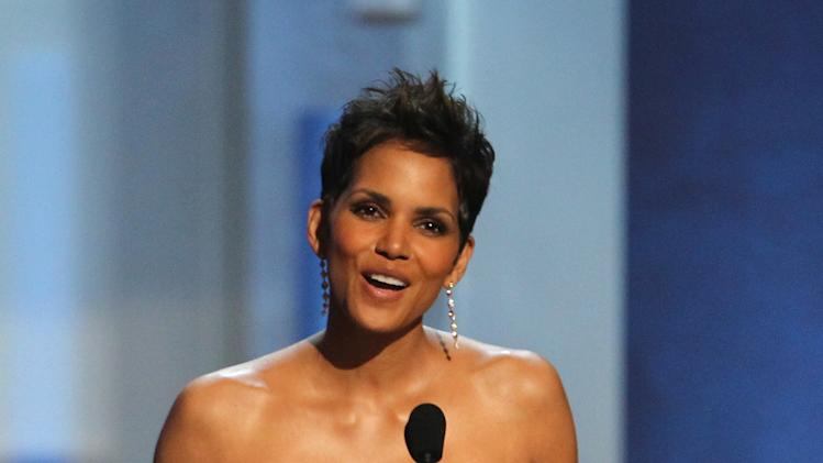 Halle Berry presents an award at the 44th Annual NAACP Image Awards at the Shrine Auditorium in Los Angeles on Friday, Feb. 1, 2013. (Photo by Matt Sayles/Invision/AP)