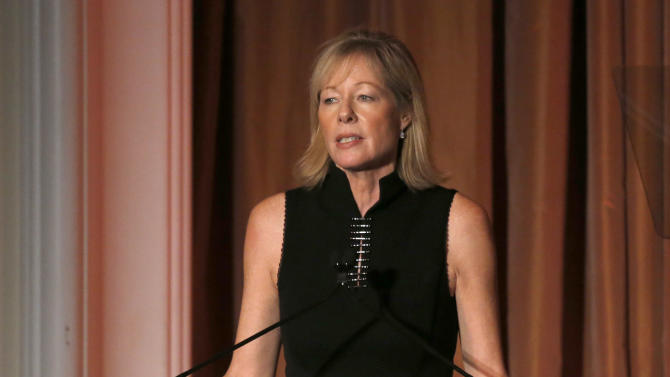President of Bank of America California Janet Lamkin speaks at the 2012 Courage in Journalism Awards hosted by the International Women's Media Foundation held at the Beverly Hills Hotel on October 29, 2012 in Beverly Hills, California.  (Photo by Todd Williamson/Invision/AP Images)