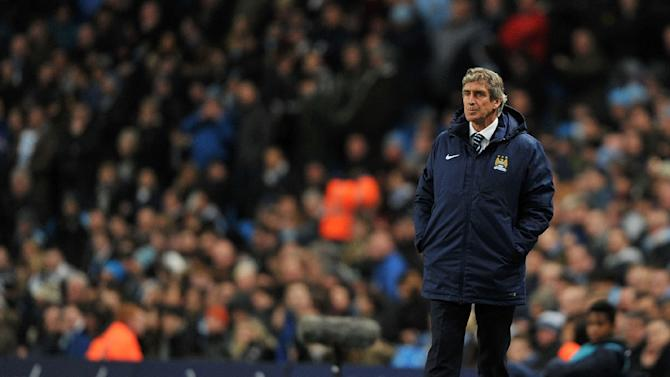 Manchester City's manager Manuel Pellegrini, seen during their English Premier League match against Leicester City, at the Etihad Stadium in Manchester, north-west England, on March 4, 2015
