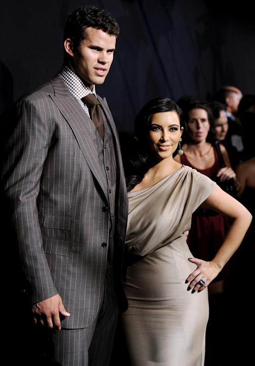 FILE - In this Aug. 31, 2011 file photo, newlyweds Kim Kardashian and Kris Humphries attend a party thrown in their honor at Capitale in New York. Humphries filed for an annulment of the couple's 72-d