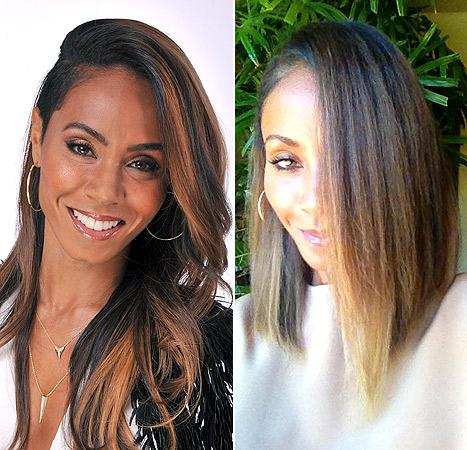 Jada Pinkett Smith Cuts Hair Into a Lob Style