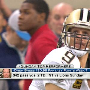 'NFL Fantasy Live': Sunday's top performers