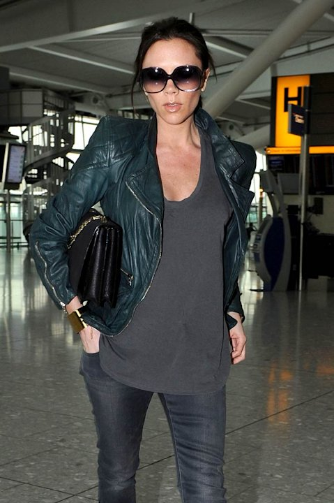 Victoria Beckham L Heathrow Airport