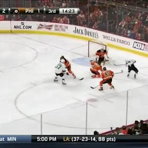Steve Mason Save on Matt Nieto (05:40/3rd)