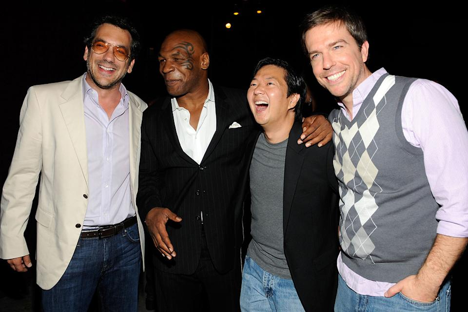 2010 Guys Choice Awards Todd Phillips Mike Tyson Ken Jeong Ed Helms