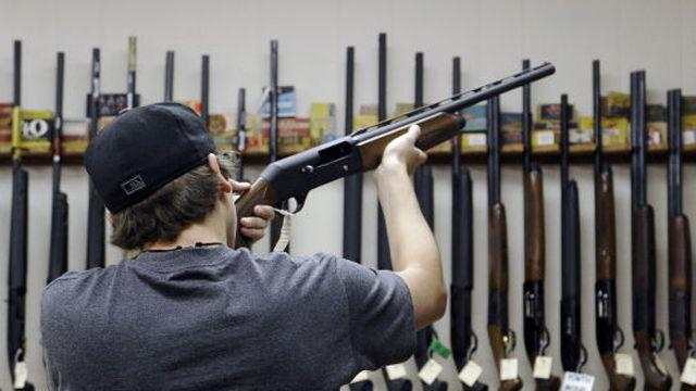 What key issue is holding up the Senate on gun control?