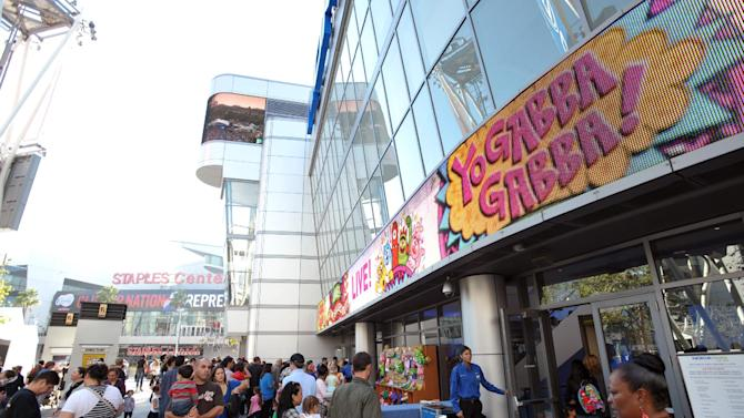 A general view of the atmosphere at Yo Gabba Gabba! Live!: Get The Sillies Out! 50+ city tour kick-off performance on Thanksgiving weekend at Nokia Theatre L.A. Live on Friday Nov. 23, 2012 in Los Angeles. (Photo by John Shearer/Invision for GabbaCaDabra, LLC./AP Images)